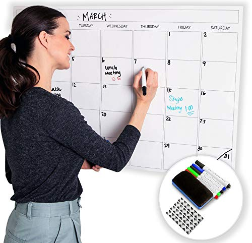 Large Dry Erase Laminated Wall Calendar 24