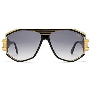 96175428d52 Cazal Legends 163 Aviator Sunglasses in Black Gold Ivory 163 3 095 59   Amazon.co.uk  Clothing