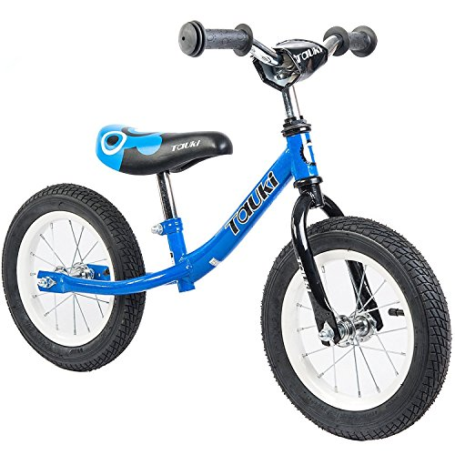 Tauki Kid Balance Bike No Pedal Push Bicycle, 12 Inch, Blue, for 18 Months-5 Years - Childrens Pedal