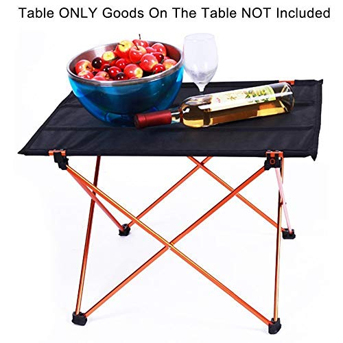 OTTAB Outdoor Picnic Table Camping Aluminium Alloy Picnic Table Waterproof Ultra-Light Durable Folding Table Desk for Picnic& Camping Red Small by OTTAB (Image #3)