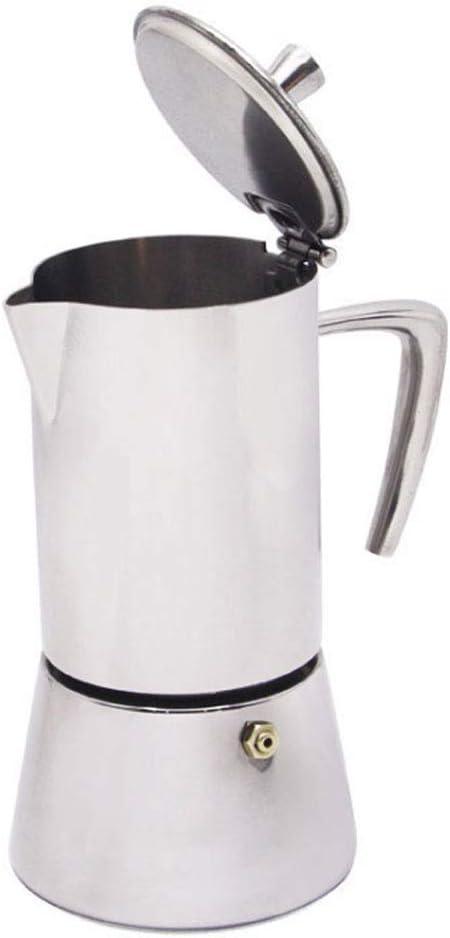 QUANOVO 4 Tazas Cafetera Maceta Acero Inoxidable Mocha Espresso ...