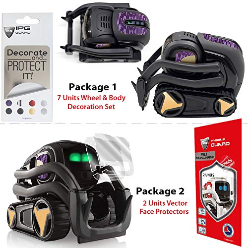- IPG Vector Robot Face Screen Guard Decoration KIT Excellent Protector from Unexpected Attacks Kids Pets. Include Wheels & Body Decoration Set 7 Units Decorative Decals+2 Units Screen Pr(Purple & Gold)