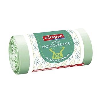 Alfapac - Lote de 25 bolsas de basura biodegradables con ...
