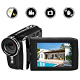 Vmotal Video Camera 1080P Camcorder Vlogging Camera for YouTube, Digital Camera Recorder 270 Degree Rotation Flip Screen