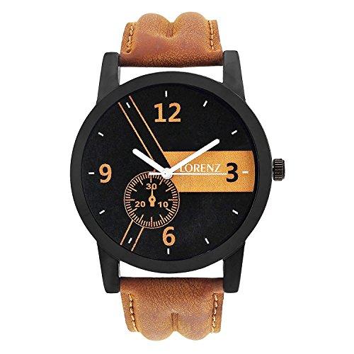Lorenz MK 101A Analog Black Dial Leather Strap Watch for Men/Watch for Boys   MK 101A