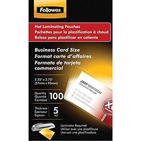 Amazon.com : The Amazing FELLOWES BSNSS CARD LAM POUCH ...