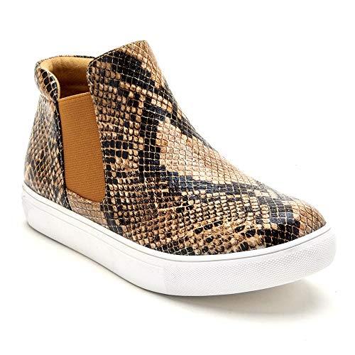 Matisse Women's Harlan Sneaker (7.5 M US, Tan Snake)