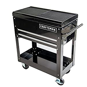 Craftsman Tool Box Cart, 350 Lb Large Capacity, Steel Sliding Drawer, Black