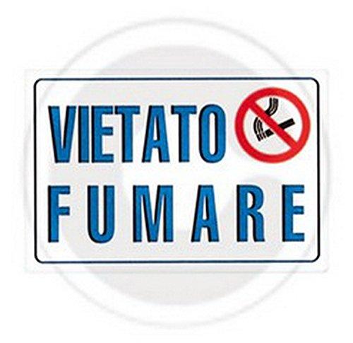 TARGA SEGNAL.'VIETATO FUMARE L.311/1' 300X200 Cartomatica Confezione da 10PZ nextradeitalia