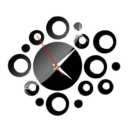 Reloj de pared decoraciones de pared Creative Regalos Muebles pegar Decoración Círculo Negro