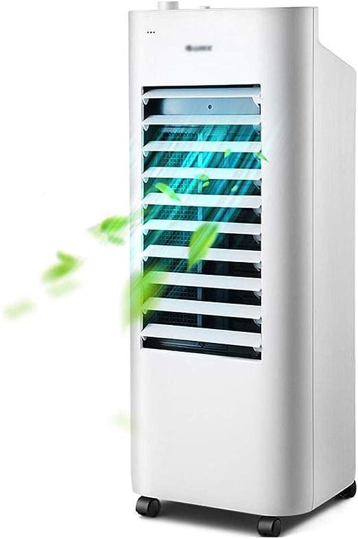 Climatizadores evaporativos Climatizador Evaporativo Climatizador Portátil Frío Ventilador De Torre con Aromatización del Aire 4 Velocidades Función (Color : Blanco, Size : 27 * 26 * 75cm): Amazon.es: Hogar