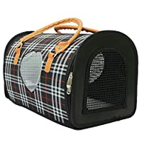 Radiant Pet Supplies Stylish Travel Dog and Cat Portable Pet Carrier Hand Bag Plaid