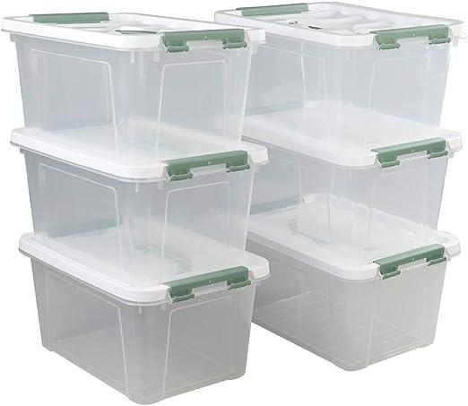 Ikando Cajas Contenedores Almacenaje de Plástico Transparente para ...