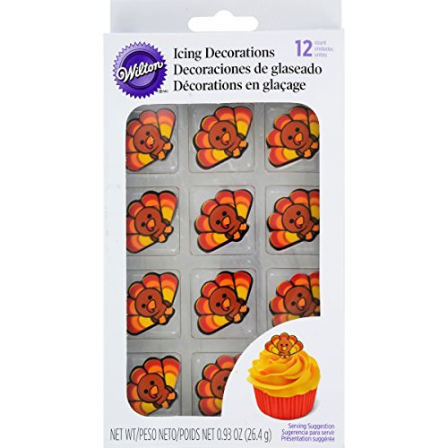 Wilton Turkey Icing Decorations, 12-Count]()