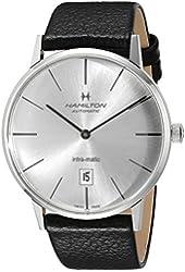 Hamilton Men's H38755751 American Classic Analog Display Swiss Automatic Black Watch