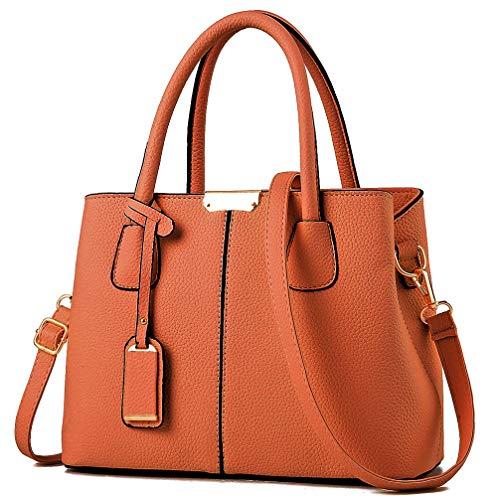 COCIFER Women Top Handle Satchel Handbags Shoulder Bag Tote Purse Messenger  Bags Brown 0ee1c6e7d8f9e
