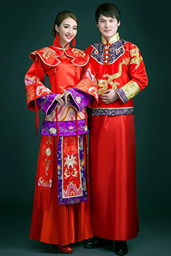 Generic Children_should_be_adopted_ Chinese _men_ Women _same_paragraph_ wedding dress wedding dress _toast_ clothing _Xiu_ bride dress _fringed_beaded_costume