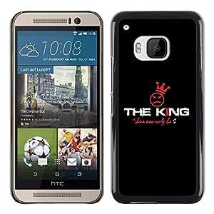 Be Good Phone Accessory // Dura Cáscara cubierta Protectora Caso Carcasa Funda de Protección para HTC One M9 // The King