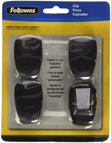 Plastic Partition Additions Clips (Fellowes(R) Partitions Additions™ Panel Accessories, Spring Clip, Pack Of 4)