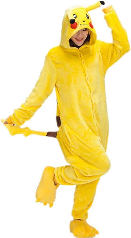 ZBSPORT Unisexo Adulto Pikachu Disfraz de Carnaval Pijama Cálido ...