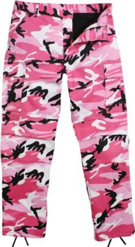Camouflage Military BDU Pants, Army Cargo Fatigues (Pink Camouflage, Size Small) (Cargo Air Force)