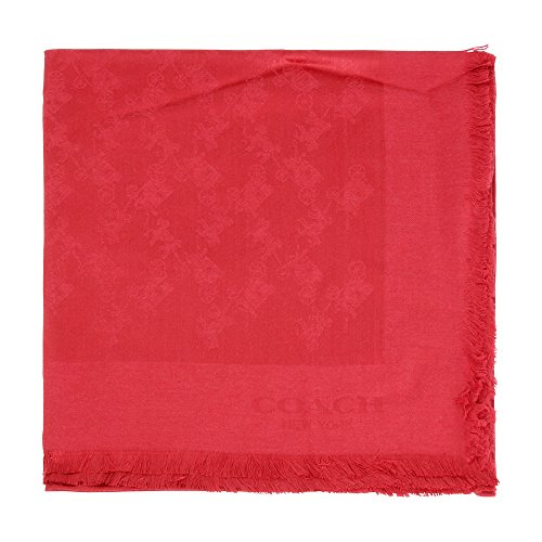 Coach Tonal Horse and Carriage Red Currant Oversized Ladies Scarf 54254 by Coach
