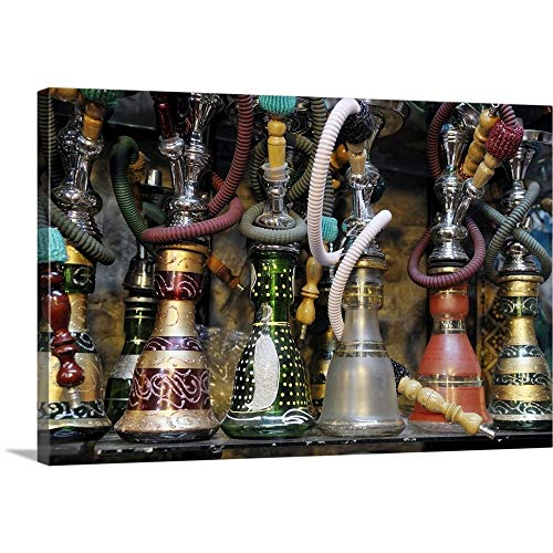 GREATBIGCANVAS Gallery-Wrapped Canvas Entitled Spain, Andalusia, Granada, Moroccan hookahs for Sale in a Small Shop by Kevin Oke 18