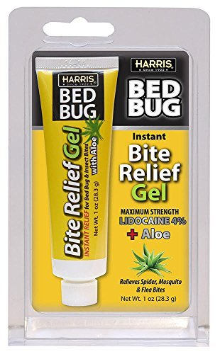 Harris Bed Bug Bite Instant Relief Gel, 1oz Tube with Aloe ()