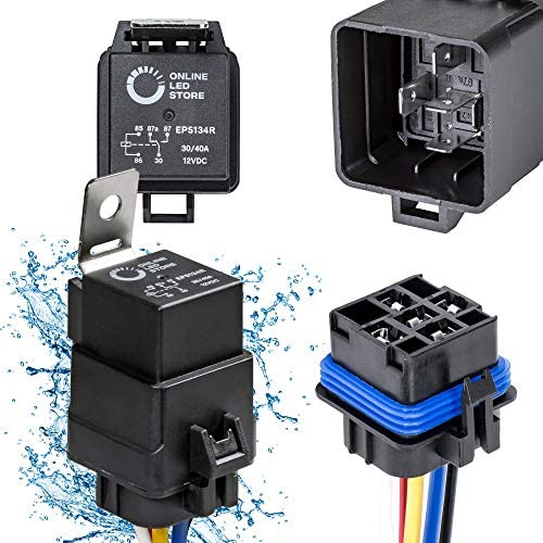 Waterproof prewired 5pin car relay harness holders 40A//12V with relay/_TSÖÖQIHARZ