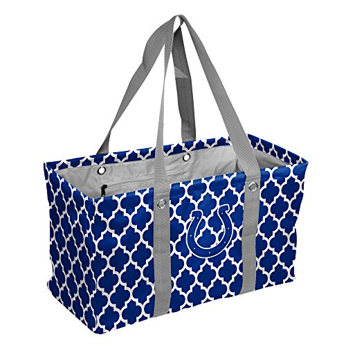 Logo Brands NFL Indianapolis Colts Quatrefoil Picnic Caddy quatrefoil Picnic Caddy, Royal, One Size by Logo Brands