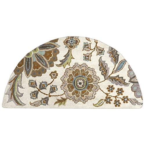 - Surya Athena ATH-5063 Transitional Hand Tufted 100% Wool Ivory 2' x 4' Hearth Floral Accent Rug