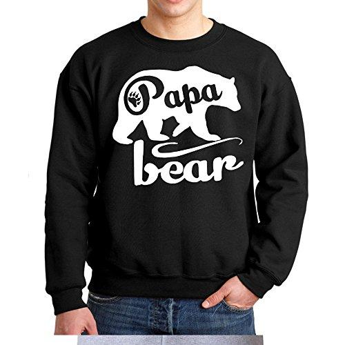 Papa Bear Crewneck Sweatshirt Father's Day Shirt Father Day Gift (Medium, (Black Bear T-shirt Sweatshirt)