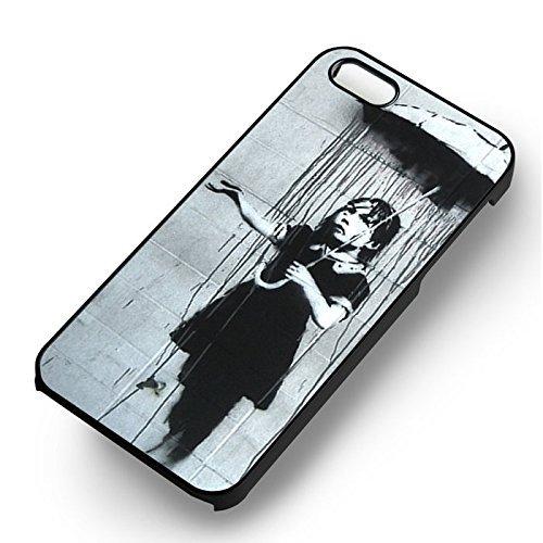 Banksy Girl Art pour Coque Iphone 6 et Coque Iphone 6s Case (Noir Boîtier en plastique dur) Y6A6UT