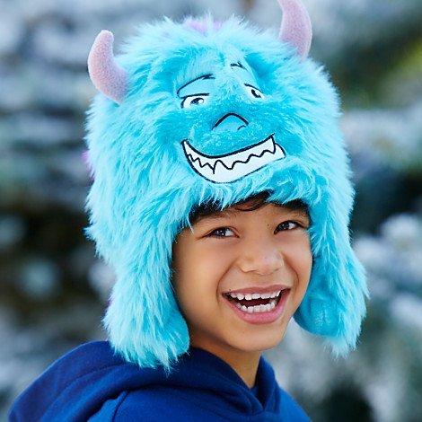 Disney Monster University Sulley Winter Earflap Hat for Kids- XS/S (Trim Earflap)