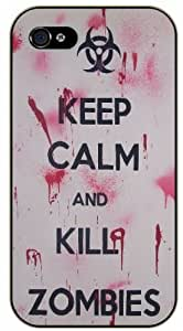 iPhone 5 / 5s Keep Calm and kill zombies - black plastic case / Keep Calm, Motivation and Inspiration, dead, walking