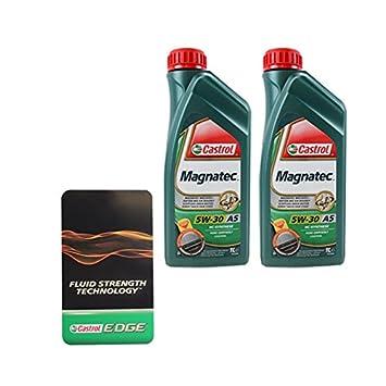 Castrol Oil Change >> 2x 1 L 2 Litre Castrol Magnatec 5w 30 A5 Engine Oil Incl