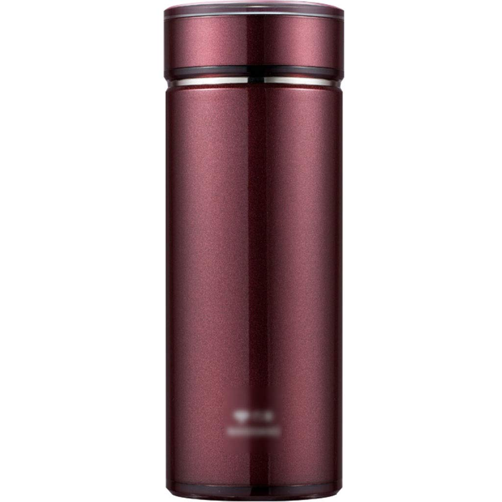 DXIUMZHP Thermos Stainless Steel Vacuum Flask, Simple Thermos Cup, Men's Water Cup, Business Water Cup, Car Water Cup, Continuous Insulation, Double Vacuum (Color : Red, Size : 450ML) by DXIUMZHP