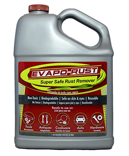 Evapo-Rust The Original Super Safe Rust Remover, contains no acids, non-toxic, biodegradable, and safe on skin - 1 Gallon