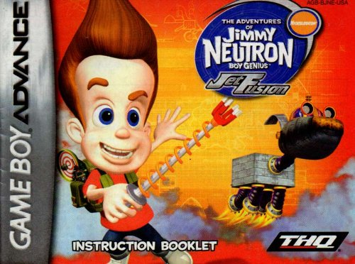 (Jimmy Neutron - Jet Fusion GBA Instruction Booklet (Game Boy Advance Manual only) (Nintendo Game Boy Advance)