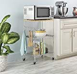 Whitmor Supreme Microwave Cart with Locking