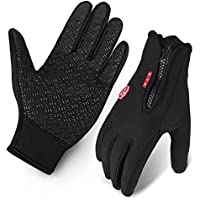 Cycling Gloves, Waterproof Touchscreen in Winter Outdoor...