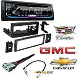 JVC KD-RD99BTS 1-Din CD Receiver Featuring BT/USB/13-Band EQ Car Radio 1995-2002 Chevrolet Silverado TRUCK Radio Dash Kit+Harness+Adapter