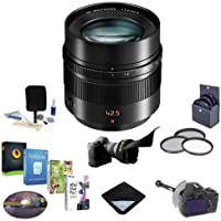 Panasonic Leica DG Nocticron 42.5mm f/1.2 ASPH/POWER OIS Lens for Micro 4/3 System - Bundle with 67mm Filter Kit, FocusShifter DSLR Follow Focus and Rack Focus, Flex Lens Shade, Cleaning Kit, Software