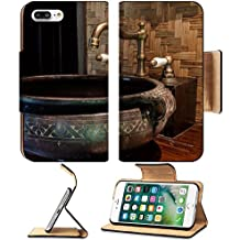 MSD Premium Apple iPhone 7 Plus Flip Pu Leather Wallet Case Modern style of bathroom decor by classic and vintage art object IMAGE 29250181