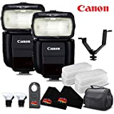 Canon Speedlite 430EX III [Import Model] International Version No Warranty (2-Pack) Accessory Kit