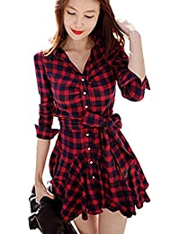 Amazon.com: Plaid - Dresses / Clothing: Clothing, Shoes