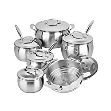 Lagostina Commercial Pro Stainless Steel Cookware Set, 12-pc