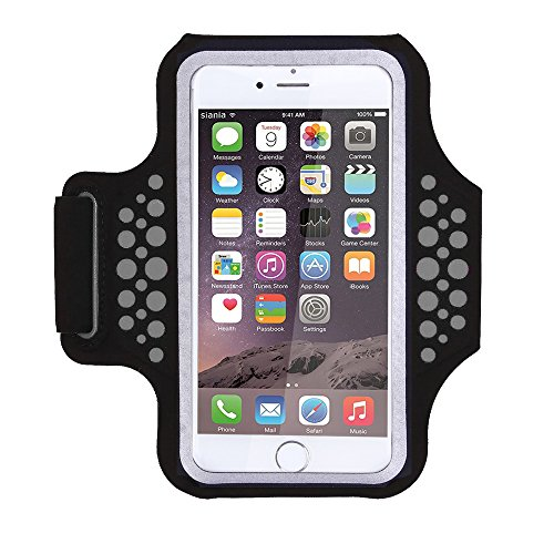 Triomph Armband for iPhone X, iPhone 8 Plus, 7 Plus, 6 Plus, 6s Plus, 6s iPod Galaxy S6, S6 Edge, S7 Edge Plus with Key Cards Money Holder, for Running, Sports, Jogging, Hiking, Biking (Black 5.8')