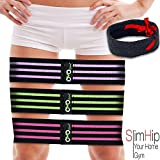 OMOteam Booty Fabric and Core Sliders,Thick Resistance Bands, Exercise Bands for Legs and Butt, Cicle Loop Hip Bands, Heavy-D