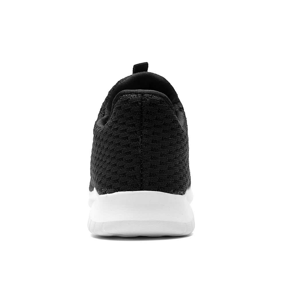 TIOSEBON Women's Lightweight Casual Walking Athletic Shoes Breathable Flyknit Running Slip-On Sneakers B07F9RW3MM 11 B(M) US|2106 Black